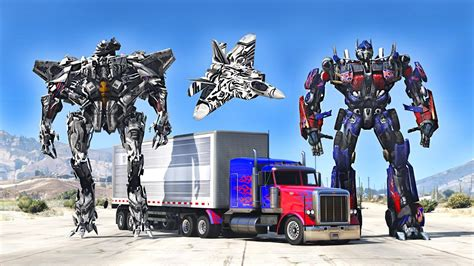 mod gta 5 transformers optimus prime vs starscream gta 5 transformers mod