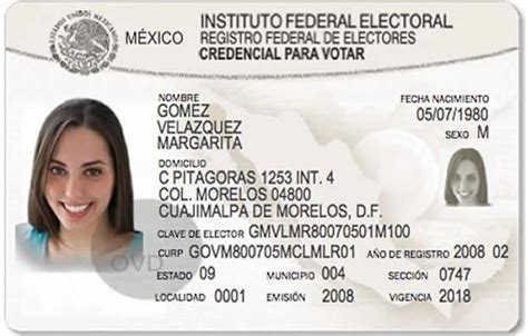 mexican id card template ine recuerda quedan 17 d 237 as para renovar credencial de