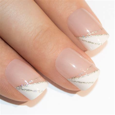 Nail By by False Nails By Bling Glitter White Manicure