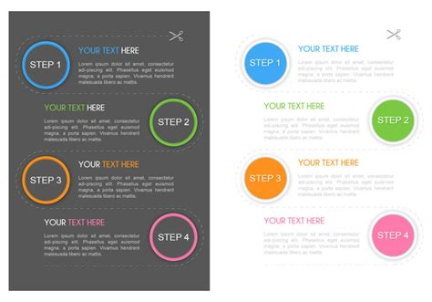 Stepping Design Templates 1 2 3 4 steps flyer psd template free photoshop brushes