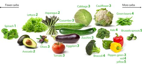 Top 10 Detoxing Veggies by Low Carb Vegetables Visual Guide To The Best And Worst