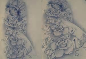tattoo clock pencil sketch by lalauralor on deviantart