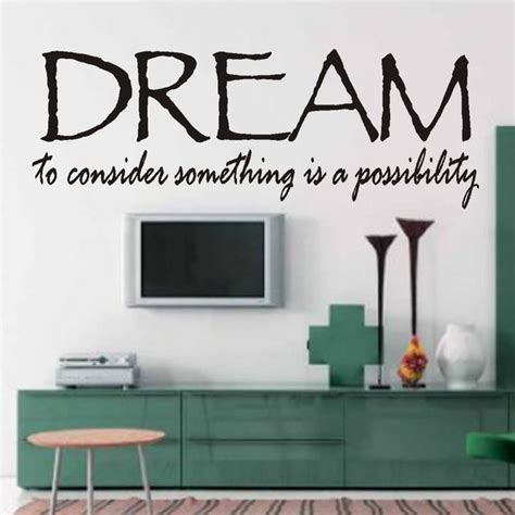 word art home decor vinyl wall quotes word art home decor dream by wallsthattalk