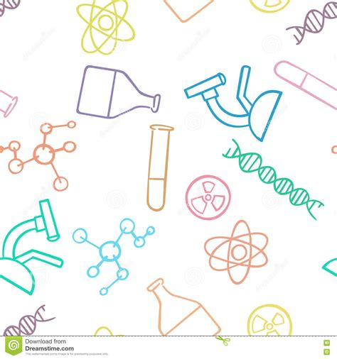 pattern background science seamless pattern background chemistry science vector
