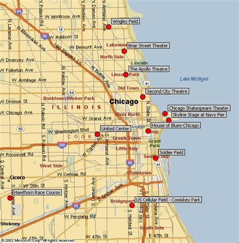 map of chicago sports venues map of chicago sports venues afputra