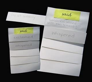 synonyms for bed instead of said students create a six tab side by side instead of foldable 174 so