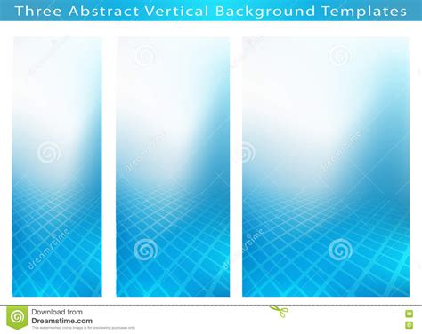 vertical layout web design three abstract vertical banner backgrounds stock