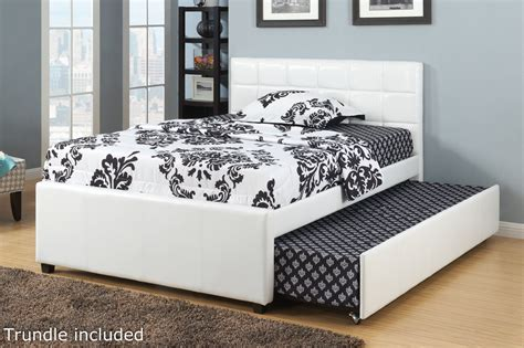 full beds with trundle poundex f9216f full size bed with trundle in los angeles ca