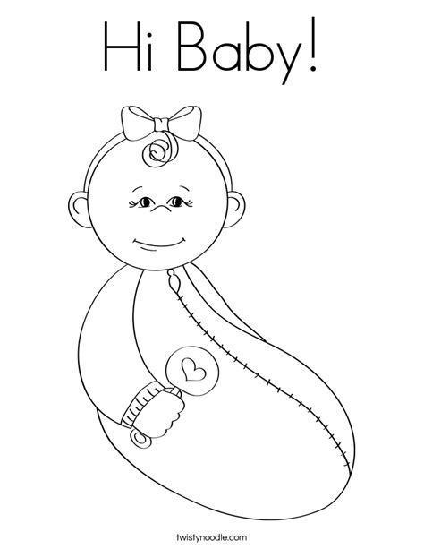 coloring pages new baby hi baby coloring page twisty noodle
