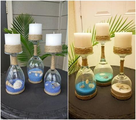 Centerpieces With Hurricane Vase Ideas Mesmerizing Diy Coastal Candle Holder Ideas