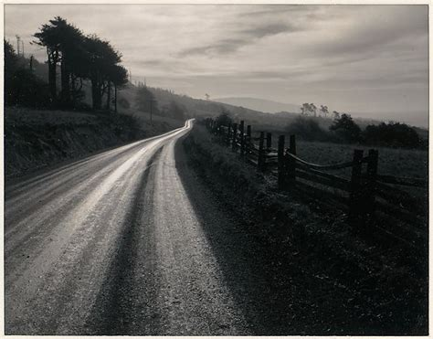 ansel easton adams road  rain northern california