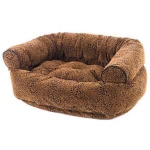 Dog bed sofa by bowsers microvelvet urban animal cheetah luxury dog