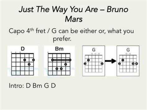 bruno mars just the way you are subtitulado en espa 241 ol just the way you are bruno mars guitar chords only