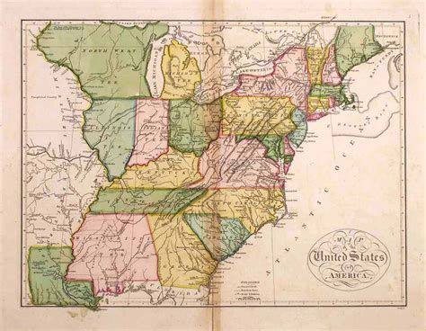 historical maps of united states of america map of the united states of america by carey dumont