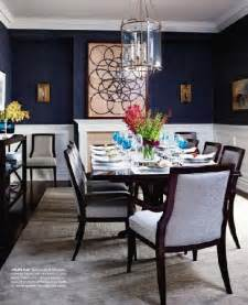 Navy Blue Dining Room Chinoiserie Chic Navy Grasscloth Formal Living Dining