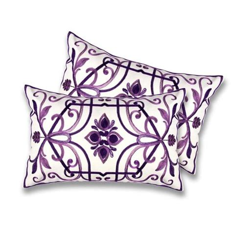 lush decor georgina plum decorative pillows set of 2 by