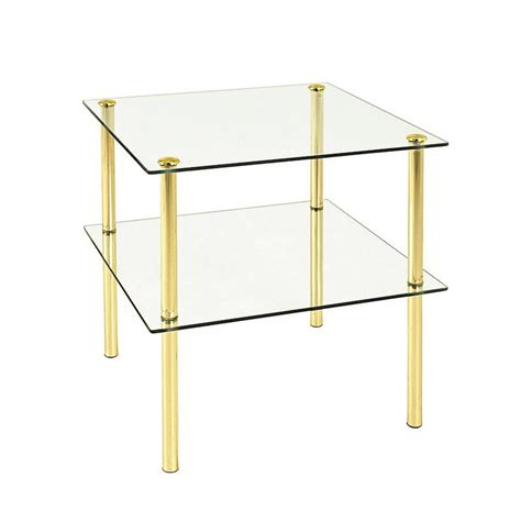 baltimore glass gold coffee table 43136