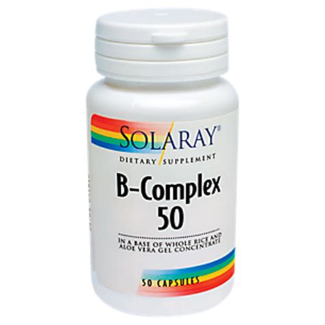 Vitamin B Complex 50 Mg b complex 50 mg 50 capsules by solaray at the vitamin shoppe