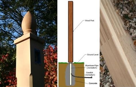 outdoor wooden l posts diy backyard and patio lighting projects fall home decor