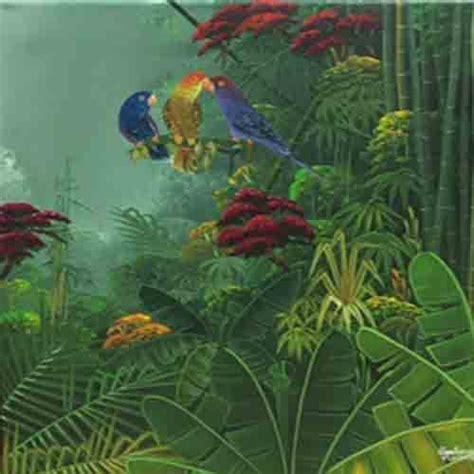 acrylic painting jungle haitian acrylic painting jungle birds