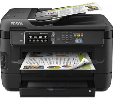 Printer A3 Epson epson workforce wf 7620 dtwf all in one wireless a3 inkjet printer with fax deals pc world