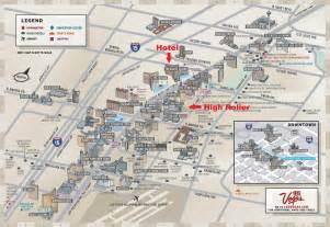 Map Las Vegas Strip by Safe Campus The High Roller
