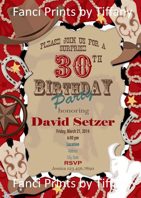 11 Beautiful And Unique Looking Western Birthday Invitations Design Birthday Party Western Themed Invitations Templates Free