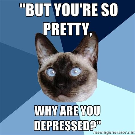 Meme Marker - depressed cat meme generator image memes at relatably com