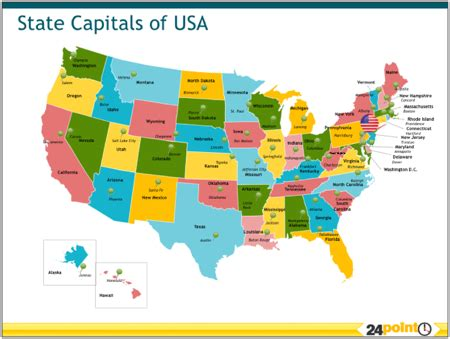 usa map with all states and capitals u s geography
