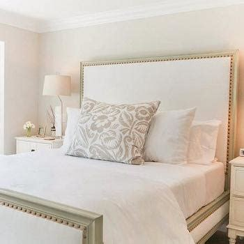 upholstered headboard with wood trim cane headboard french bedroom sherwin williams anew