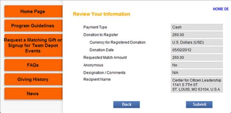 companies with donation request forms just b cause
