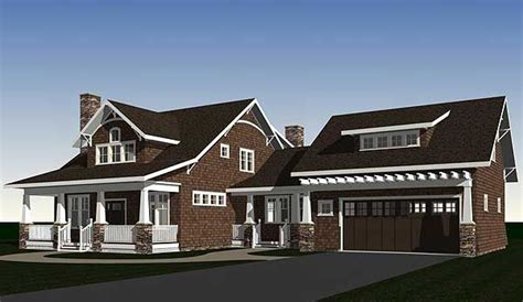 house plans with 2 separate attached garages garage bungalows craftsman house dream house