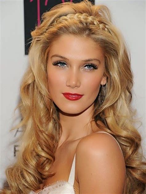 cuely hair with straight strands in front easy formal hairstyles for very long straight hair