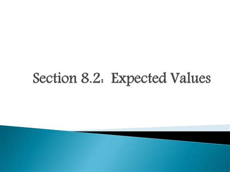 section 8 idaho ppt section 8 2 expected values powerpoint presentation