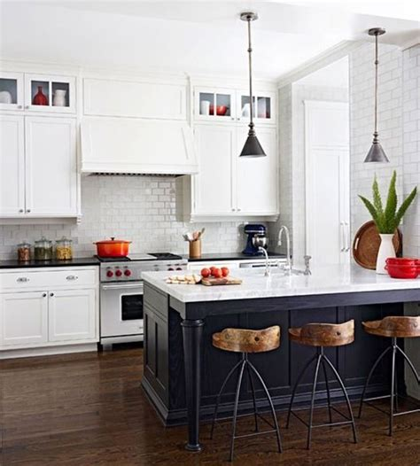 kitchen rock island 34 timelessly black and white kitchens digsdigs