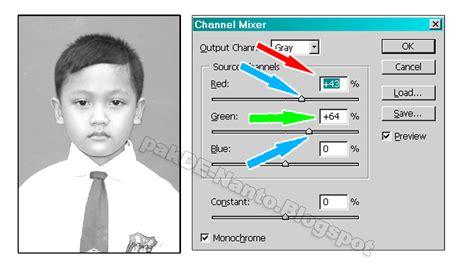 membuat foto hitam putih  photoshop oghie