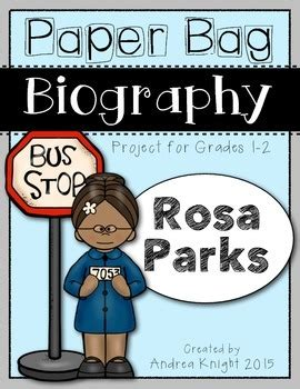 biography bag project biography pinterest bags paper bag biography rosa parks a project for grades 1 2
