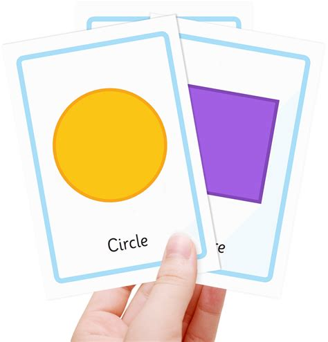 free shape flashcards for kids totcards worksheet shape flash cards debnamcareyweb worksheets