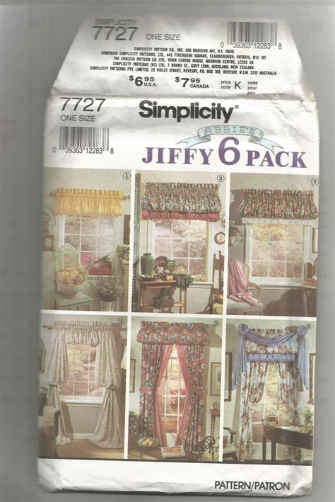 simplicity curtain patterns simplicity sewing pattern 7727 curtains and by kimcocreations