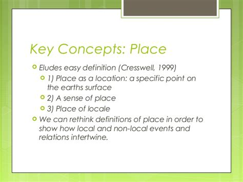 A Place Explanation Critical Perspectives In Human Geography