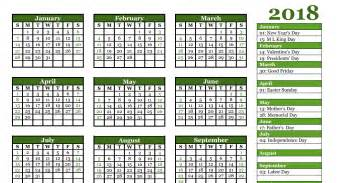 2018 Calendar Year Free 2018 Yearly Calendar Pdf Word Excel Templates