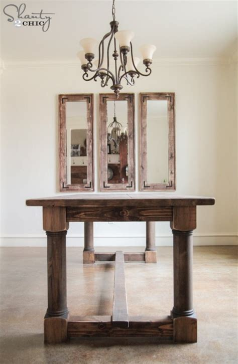 diy table with turned legs diy dining table with turned legs shanty 2 chic