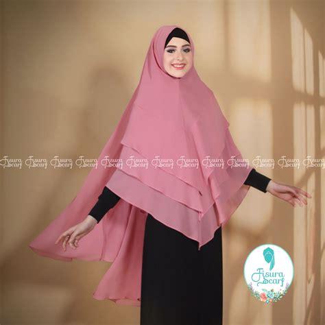 Jilbab Khimar Layer khimar maysaroh by fisura scarf kerudung ceruti 3 layer