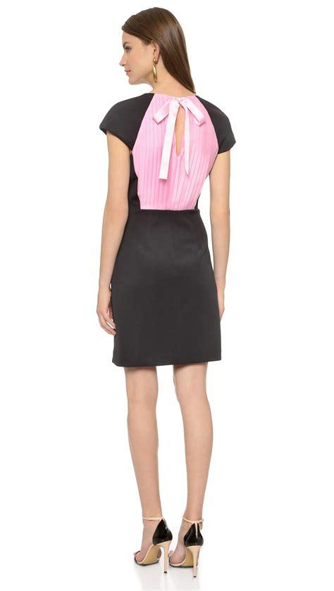 Sonya Tunik Mini Dress Maxi Jersey by By Rykiel Pleated Back Dress Black Peony