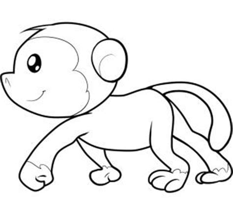 simple monkey coloring pages how to draw how to draw a monkey for kids hellokids com