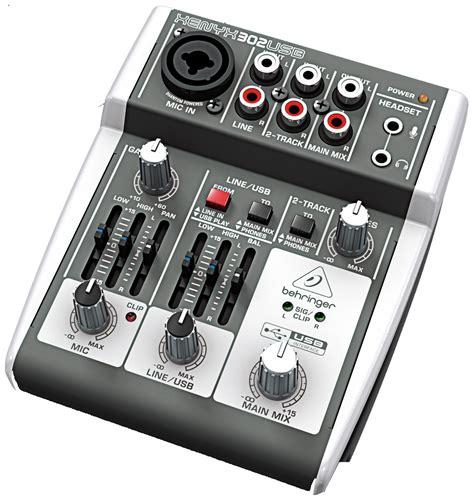 Mixer Xenyx 302 Usb behringer 302usb premium 5 input mixer w xenyx mic pre