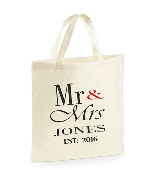 Wedding Gift Personalised by Personalised Mr Mrs Bag Wedding Gifts For The
