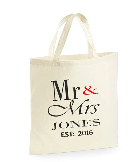 PERSONALISED Mr & Mrs Bag. Wedding Gifts. For The Bride