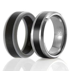 Designed Silicone Rubber Wedding Ring Men Tungsten Wedding