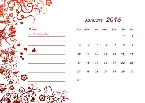 Microsoft Word 2016 Calendar Templates
